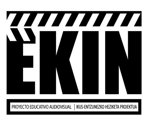 Logotipo EKIN proyecto educativo audiovisual en el apartado web - contacto